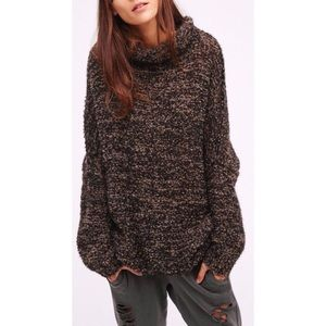 Free People she's all that oversized knit sweater